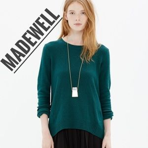 MADEWELL • Green Back-zip Pullover Sweater Small